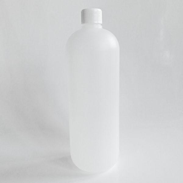 1000ml tyhjä muovipullo kierrekorkilla