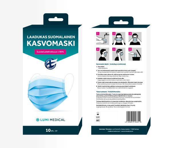 Lumi Medical kasvomaski paketti, Pako Group verkkokauppa lahti