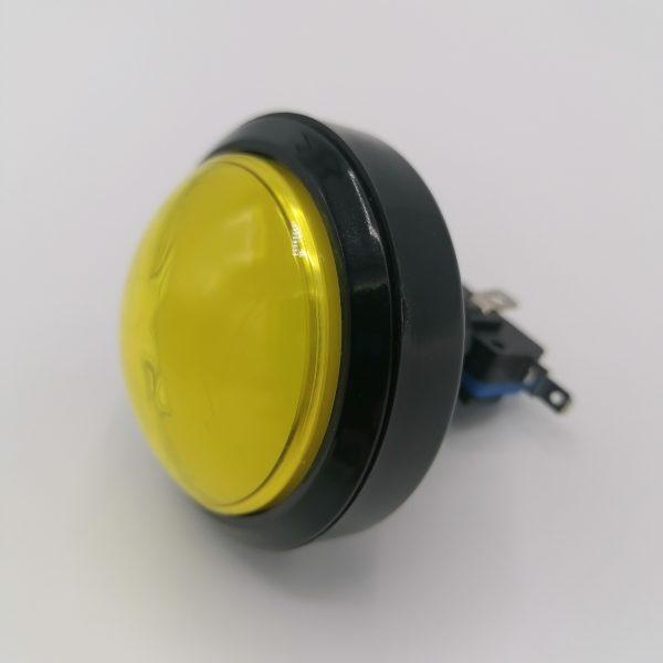 arcade nappi 60mm keltainen
