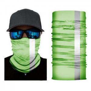 tuubihuivi, heijastin, vihreä, neo, laskettelu, pyöräily