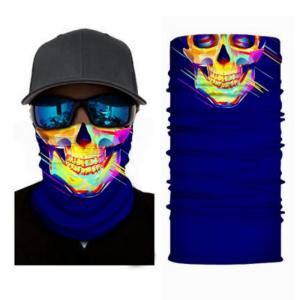 värikäs pääkallo kuvioinen tuubihuivi, pako group verkkokauppa tuote