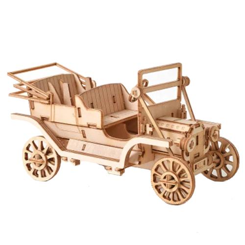 klassinen auto, puinen kasattava 3D palapeli, pako store -verkkokauppa lahti