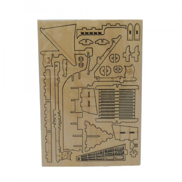 laiva, puinen kasattava 3D palapeli pakkaus, pako store -verkkokauppa lahti