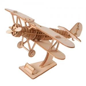 lentokone, puinen kasattava 3D palapeli, pako store -verkkokauppa lahti