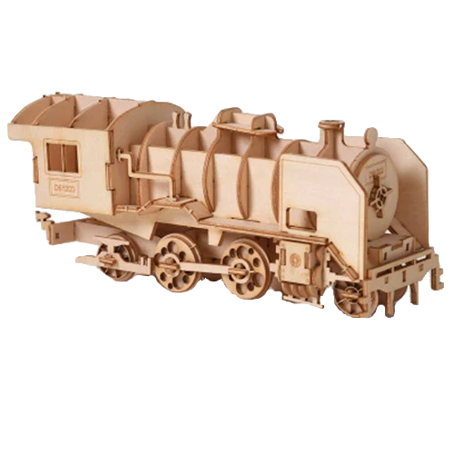 junan veturi, puinen kasattava 3D palapeli, pako store -verkkokauppa lahti