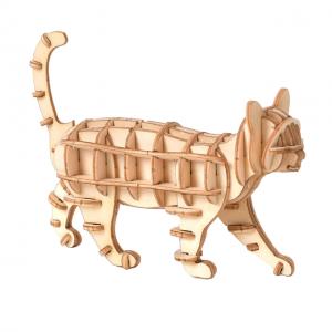 kissa, puinen kasattava 3D palapeli, pako store -verkkokauppa lahti