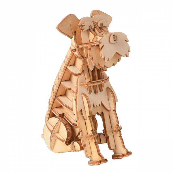 koira, puinen kasattava 3D palapeli, pako store -verkkokauppa lahti