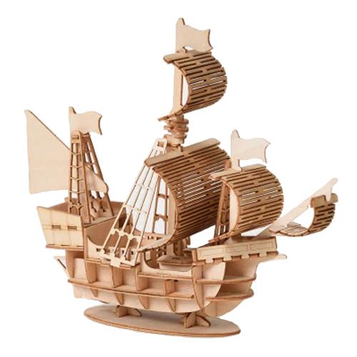 laiva, puinen kasattava 3D palapeli, pako store -verkkokauppa lahti