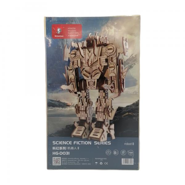 robotti, puinen kasattava 3D palapeli pakkaus, pako store -verkkokauppa lahti