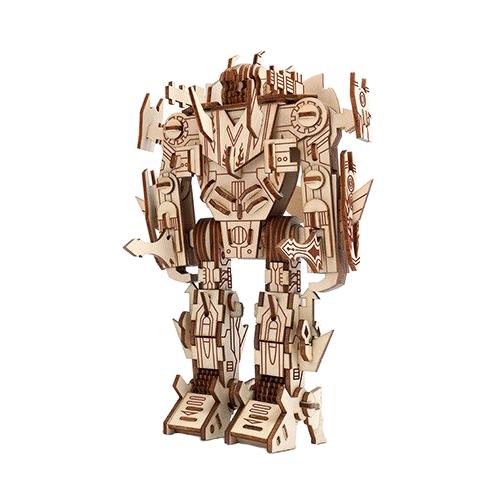 robotti, puinen kasattava 3D palapeli, pako store -verkkokauppa lahti